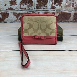 Coach Pink Bow Wallet